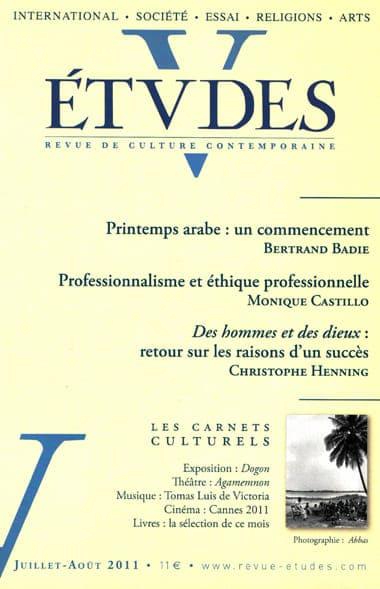 Du professionalisme à l'éthique professionnelle